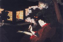 Ukiyoe-浮世絵 / Hokusai's daughter, Katushika Oui's work!! It is winderful.