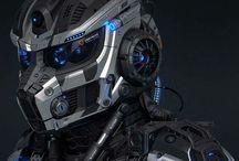 Мехи, андроиды, бионики.