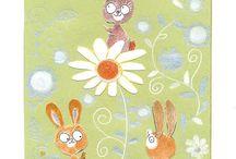 Scarlet Mila aime les Papiers recyclés Maki / Illustration et créativité d'une artiste sur du papier recyclé Maki 175gr