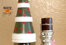 Christmas trees from pots / Christmas tree pots