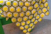 flowers made of yarn