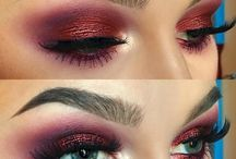 Deep burgundy/plum Eye make-up ✨