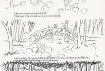 how to sketch landscape