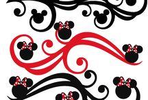 silueta Mickey mouse