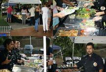 biffet de comida a las brasas / comida a la parrilla, brasas con fusión gourmet