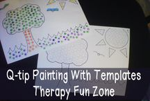 Q-Tip Painting Printables / Fun fine motor work with Q-Tip Painting!