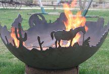 fire sculptures propane