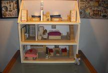 bear's house & shop / la casa degli orsi e il negozio di alimentari  realizzati completamente a mano