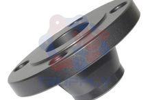 Weld Neck Flanges / They include a long tapered hub that gradually meets the wall thickness from the pipe or fitting. The long tapered hub provides an important reinforcement for use in several applications. They also provide excellent stress distribution through the tapered hub and are easily radiographed for flaw detection. This flange type will be welded to a pipe or fitting with a single full penetration Buttweld. http://www.trupply.com/collections/weld-neck-flange