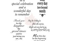Sayings etc: birthday