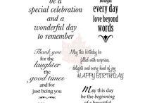 Sayings etc: birthday