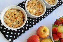 Crumble de morango, pera e maçã