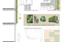 fachada verde detalle