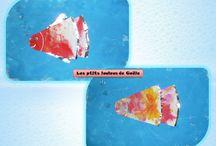 Bricolages pour les poissons d'avril par les p'tits loulous de Gaëla / Bricolages et activités des enfants/assistante maternelle