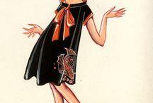 Jeanne Lanvin / Fashion illustrations