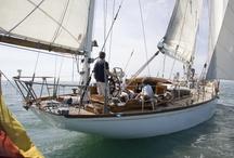 Classic sail boats