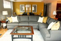PORFOLIO - Gray and gold living room and dining room