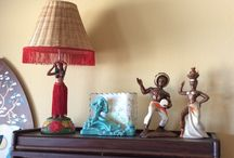 Kitschy Vintage Lamps / Kookie kitschy lamps I've collected through the years