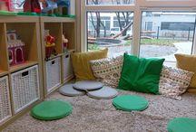 Kinderdagverblijf KION inrichting / Uitdagende groepsruimtes en activiteitenhoeken bij KION.
