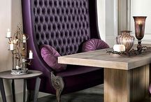 Diner tafel , bank en stoelen + barkruk