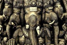 God / Hindus have a multitude of gods and goddesses that symbolize the one abstract Supreme Being or Brahman.