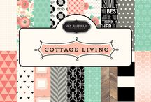 Jen Hadfield Cottage Living / Be inspired by the everyday things you love most and create beautiful pieces for your home that boast a playful, handcrafted touch with Cottage Living, the new collection from Jen Hadfield and Pebbles. Inspired by textiles and unique home décor, this collection features bold geometric patterns, florals, hand-lettering, wood grains and gold foil touches throughout. A stylish palette of coral, mint, peach and charcoal are accented with dazzling gold and bold black. / by Pebbles Inc