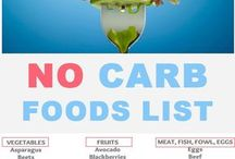 No carb food list