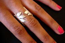 rings, earrings
