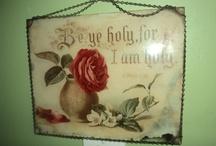 Vintage Bible Verse Plaques