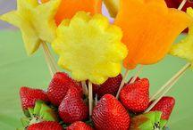 arreglos con frutas y verduras