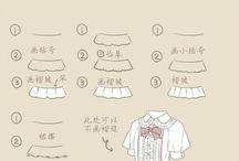服描き方 資料参考