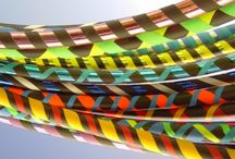 Hula Hoops and Hooping Art / I teach hula hooping to adults and will bring my pile o'hoops to your outdoor event in the Central & Eastern NC area for a reasonable fee.  See more at www.karentiede.com.  #hulahoop / by Karen Tiede Art Rugs