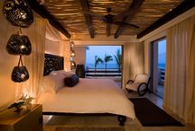 Cabo / 'Cabo' started because I wanted a bedroom with thick Adobe walls, shutters and softly blowing curtains near an ocean beach. It has grown to reveal my true taste. I love it.  / by C Wheel