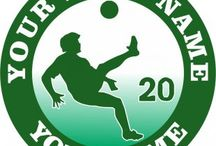 Customized Soccer Logo / Create your own Soccer logos with names, nicknames, anniversary dates, birthday on it to make iron-on transfers, decals stickers, patches, labels, etc. You also can change background, foreground, images inside the circles. No Minimum Order. If you have any ideas about the Soccer logos, give it a shot, you would like the logos which are involved with your thoughts.
