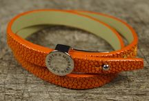 Galuchat Double Tour / Bracelet MONBARTH réglable avec lanière en Galuchat et boucle amovible en Argent.