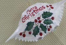 Christmas crab painting