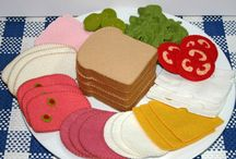 Deli meat and bread felted