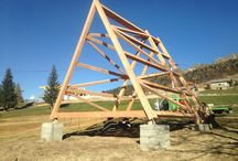 plan schelet lemn casa cort