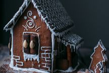 . gingerbread houses .