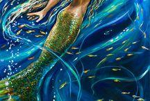 Mermaid paintings