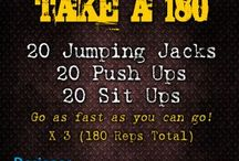 180 reps workout - 3 exercise, 20 reps, 3 times through (180 total reps!)