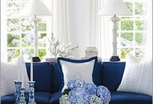 My Blue Heaven  / I love blue and white. Anything. Any shade of blue will do.
