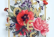 Flowers and fonts