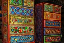 Artsy Furniture / Beautifully-painted art on furniture; decorative painted furniture