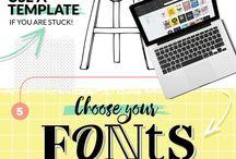 desain visual template