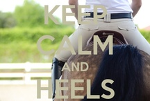 "Heels Down / ""To horse, to horse! Urge doubts to them that fear. Hold out my horse, and I will first be there."" ~ Shakespeare  / by Kim Magee"