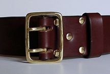 Handmade leather belts / Handmade leather belts made to suit your personal requirements by Charles Findlay in London. Charlie uses the finest quality Oak bark tanned and Vegetable tanned leathers with a large range of solid brass and nickel plated solid brass buckles, and each belt ends with an English point. Charlie places 5 oval holes at one inch intervals to suit the measurement you provide. Mongoose Moon specialises in extra long belt sizes, at no extra cost.
