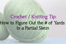 Crochet Tips and Tricks / How-to's, tips and tricks for crocheting (i.e. how to determine the yardage of a partial skein of yarn.)
