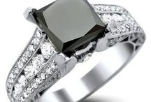 Black Diamond engagement rings / Carbonado ♦♦♦ Black Diamond Engagement Rings that Rock | Non traditional rings, especially black and black diamond engagement rings are fast gaining traction among younger engaged couples.