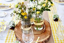 Yellow-grey wedding